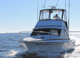 Wild Card boat heading out for another offshore charter trip on the Northern Outer Banks.