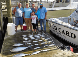 This family catch proves Oregon Inlet inshore fishing and near shore fishing is affordable fun for the whole family.