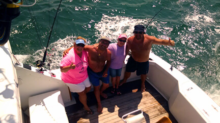 You can tell by the smiles on these folks that some charters are all about having a good time with friends and family while vacationing from Nags Head to Duck NC