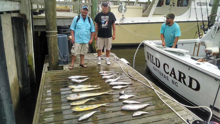 Because our boat is located in Wanchese we get a lot of trips from vacationers in Rodanthe that prefer to fish out of Oregon Inlet rather than Hatteras.