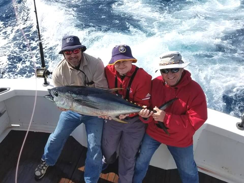 Three friends vacationing in Kill Devil Hills NC enjoyed catching this nice tuna out of Oregon Inlet.