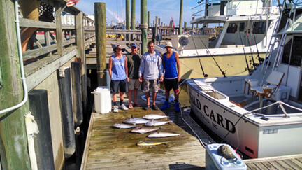 This family went home with a fine catch of fish on their vacation trip to Rodanthe NC